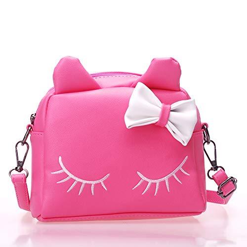 ToToDog Cute Cat Ear Girl Purse Kids Handbags Crossbody Bags PU Leather Shoulder Bags Mini Backpack Bags For Girls (pink)