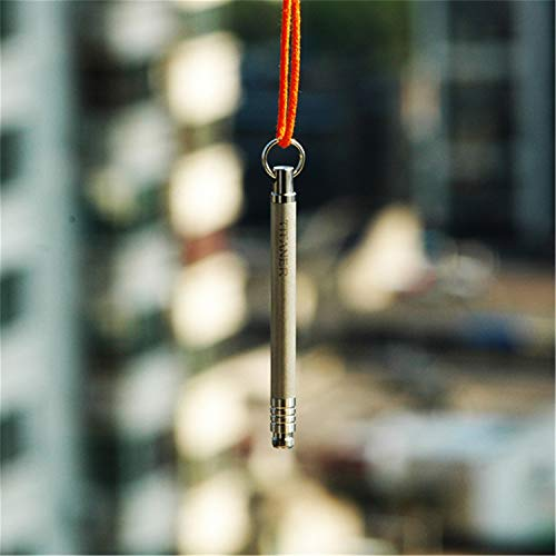 Silver Clean Safe Titanium Toothpick Fruit Pick Outdoor Camping EDC Tool Pocket Pick Tool Everydaycarry Keychain Gear