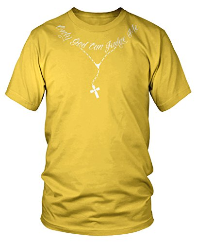 Amdesco Men's Only God Can Judge Me T-Shirt, Yellow XL (Front Yellow Only T-shirts)