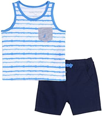 Nautica Childrens Apparel Baby Boys Two Piece Set W// Tank Top and Pull