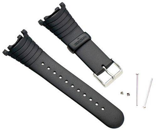 Suunto Wrist-Top Computer Watch Replacement Strap Kit (Vector, Altimax, Mariner, Regatta, D3; Black Elastomer) (Elastomer Strap)