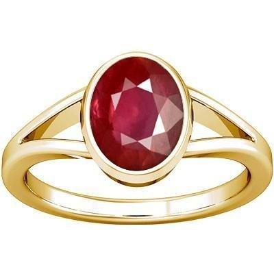 Divya Shakti 5.25-5.50 Carats Ruby Ring ( Maanik / Manikya Stone Panchadhatu Ring ) 100% Original AAA Quality Gemstone Carats Ruby Sapphire Beads
