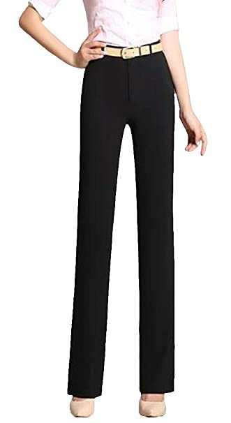 11aa262a999 Image Unavailable. Image not available for. Color  KXP Women s Plus Size  High Waisted Straight Leg Trousers Casual ...