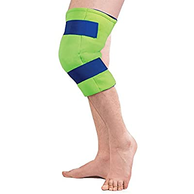 Polar Ice Large Knee Wrap Cold Therapy Wearable Ice Pack Adjustable Hook and Loop Closure (Color May Vary)