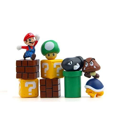 Super Mario Resin Charms - 10 PCS Arts and Crafts, Office Decoration, Children's Toys Children' s Toys Unkown
