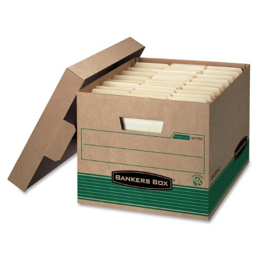Bankers Box Recycled Stor/File Medium-Duty Storage Boxes, 16.25 x 12.25-Inch, Pack of 12 (12770)