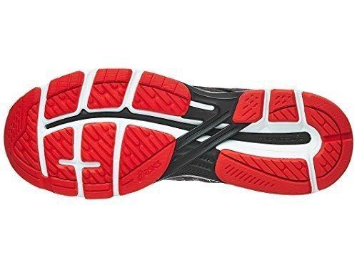 ASICS Men's GT-2000 6 Running Shoe, Dark Grey/Black/Fiery Red, 12.5 M US