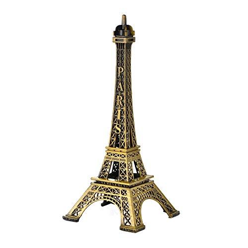 Optimal Shop Eiffel Tower Decor,18cm(7Inch) Metal Paris Eiffel Tower Craft Art Statue Model Desk Room Decoration Gift (Eiffel Tower Desk)