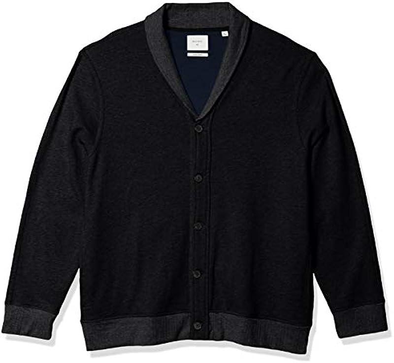 Billy Reid Męskie Cotton Cashmere Terry Shawl Collar Cardigan Sweater Jacket Sweatshirt: Odzież