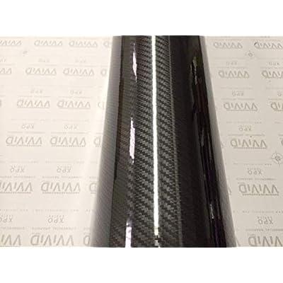 VVIVID Epoxy High Gloss Black Carbon Vinyl Automotive Wrap Film DIY Easy to Install No Mess (1/2ft x 5ft): Automotive