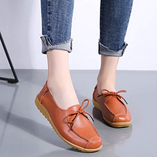 Unie De À Lacets Bhydry Plates Basses Couleur Sport Orange Femmes D'infirmière Chaussures Pour SUqXv