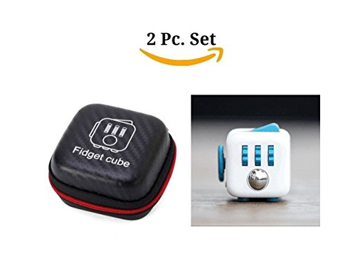 2 Pcs Fidget Cube For Stress And Anxiety With Protective Case Bumper Puzzle Cube For Stress Decompre