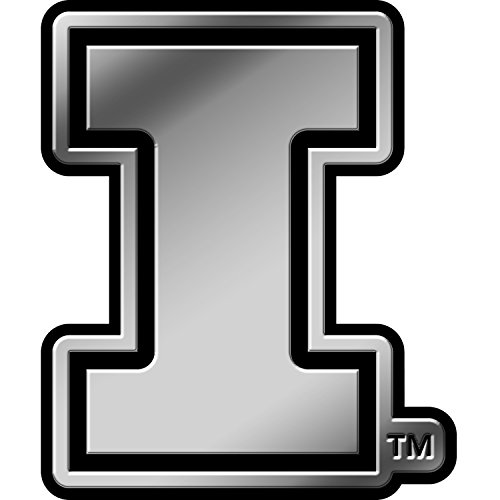 Rico Industries NCAA Illinois Illini Chrome Finished Auto Emblem 3D Sticker