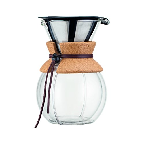 Bodum Pour Over 8 Cup Double Wall Coffee Maker, 16.2 x 14.9 x 22.2 cm,Transparent (Bodum Coffee Vacuum)