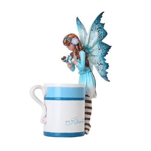 6.25 Inch Hot Cocoa Fairy Standing by Mug Mystical Statue Figurine