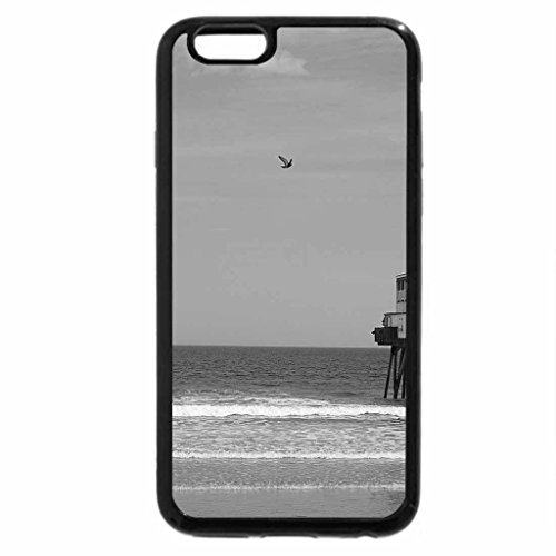 iPhone 6S Case, iPhone 6 Case (Black & White) - Old Orchard Beach 2