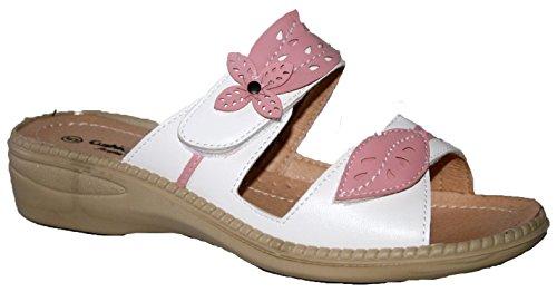 Cushion Walk - Zapatos con tacón mujer blanco/rosa