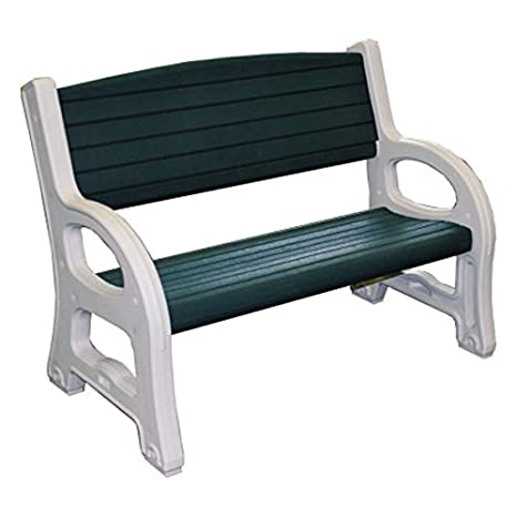 Panchina In Plastica Verde.Panca Da Giardino Panchina Di Plastica 2 Posti Bianco Verde 124 X