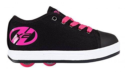 Heelys - Zapatillas de skateboarding de Lona para niña negro/rosa