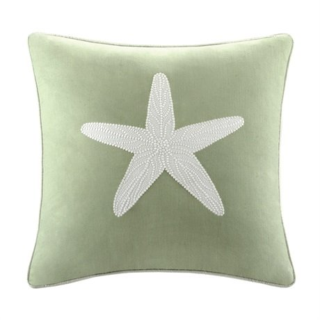 "Harbor House Brisbane Square Pillow, 18 x 18"", Sage"