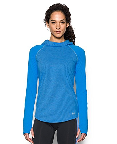 Under Armour Women's Streaker Hoodie, Water (464), Small