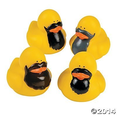 Bearded Rubber Ducks 12 pcs
