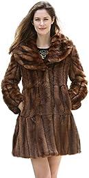 Amazon.com: Brown - Fur &amp Faux Fur / Coats Jackets &amp Vests