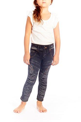 Crush Girls Distressed Seamless Denim Jegging Leggings Black Size 4 (Girls Distressed Jeans)
