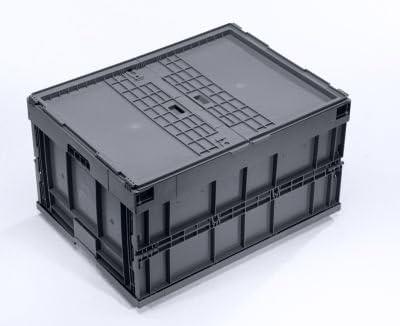 Caja Plegable – Volumen aprox. 200 L, con anscharniertem – Tapa de plástico apilable Depósito Cajas de plástico