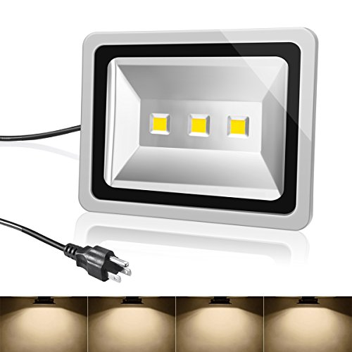 Warmoon Floodlight Waterproof Spotlight Outdoor Landscape Wall Lights 150W Warm White 600W Equivalent 12000LM for Hotel, Park, Court, Bridge, Show Windows, Billboard