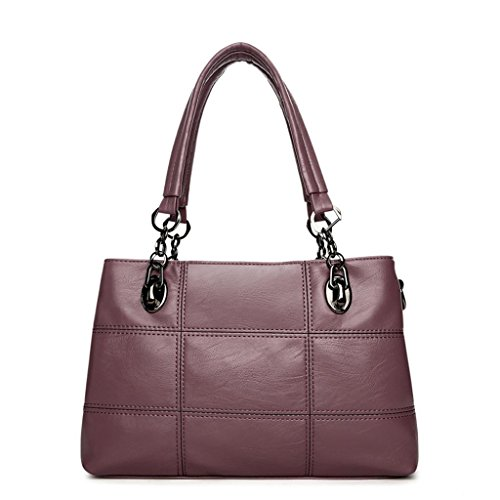 Doux Sac Tourisme Mode de capacité Multiple Shopping Main Compartiment Sac Unique bandoulière Bag SHOUTIBAO Cuir purple en Messenger Office Femmes PU à Grande à q4BExZp0