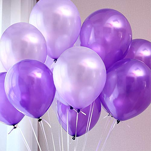 100pcs Balloons Purple & Lavender Mixed Balloons 10