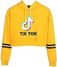 TIK Tok Umbilical Cap Sweater Autumn Long Sleeve Printing Hooded Drawstring Sweatshirt Shirt Top T-Shirt