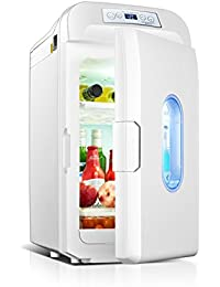 SL&BX 35l dual refrigeration mini refrigerator, Car refrigerator car dual-use refrigerated mini refrigerator truck 12v mini fridge-White
