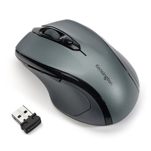 Kensington Pro Fit Mid-Size Wireless Mouse, Graphite Gray (K72423AM)
