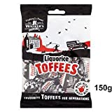 Walkers Nonsuch Liquorice Toffee 150g Bag x6