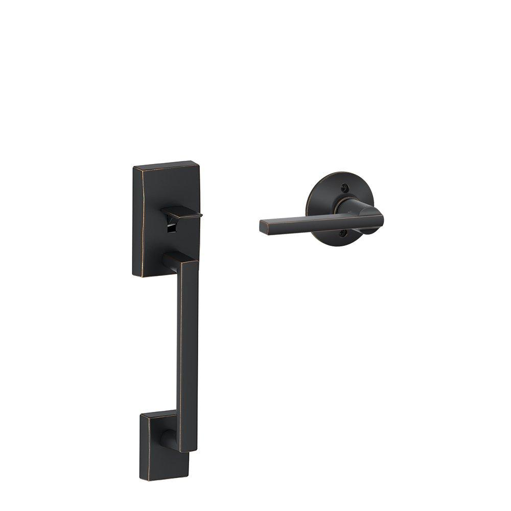 Schlage Lock Company Century Front Entry Handle Latitude Interior Lever (Aged Bronze) FE285 CEN 716 LAT