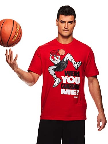 Short Sleeve Basketball Graphic Tee - AND1 Men's Graphic Basketball Tee - Short Sleeve Gym & Training Activewear T Shirt - Dunk Red, XX-Large