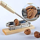 XENO-Heavy Duty Easy Manual Pecan Nut Cracker Nickel-Plated Nutcracker Nut Sheller #L