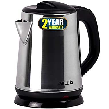 iBELL 1500 W Stainless Steel High Polished Electric Kettle 8