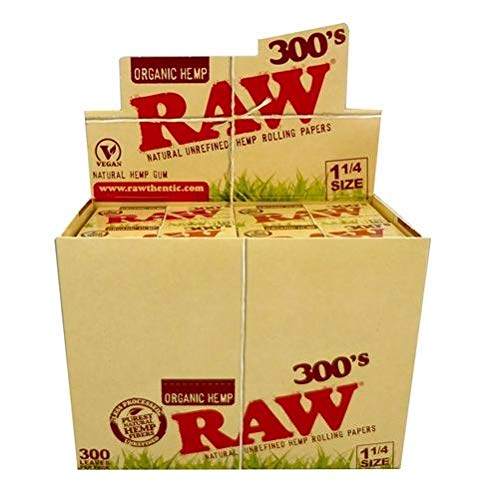 Raw 300 Organic 1.25 1 1/4 Size Rolling Papers 5 Pack = 1500 Leaves by Raw (Image #3)