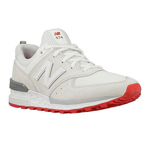 Pour Blanc Femme Balance rouge Baskets New xwqfA7Rw