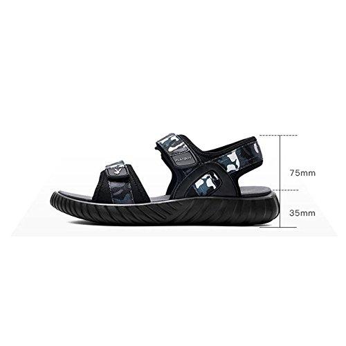 Stile da Camoscio Uomo Tendenza da Scarpe Black Piatti Casual Traspirante Estiva da Sandali Spiaggia CHENGXIAOXUAN da in Sandali Uomo Sandali Sportive Uomo Wvg7Z7