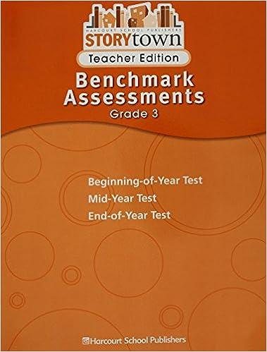 Storytown Benchmark Assessments Teacher Edition Grade 3