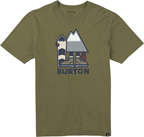 Burton Men's Rip ton Short Sleeve T-Shirt, Olive Drab, X-Large