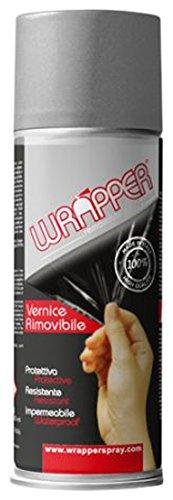 Quattroerre 16448 Wrapper Spray Vernici Rimovibili Tinta Metallizzata, Grigio Alluminio Quattroerre Italia