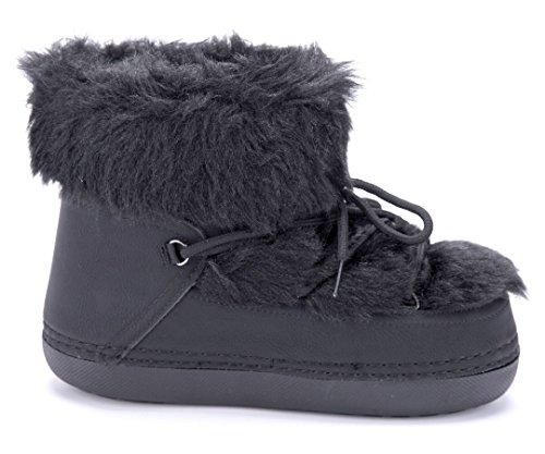 Schuhtempel24 Damen Schuhe Winterstiefeletten Stiefel Boots Flach Emu Schwarz