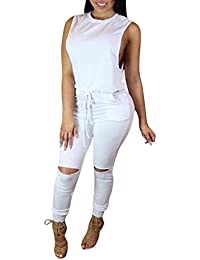 Amazoncom Whites Jumpsuits Rompers Jumpsuits Rompers