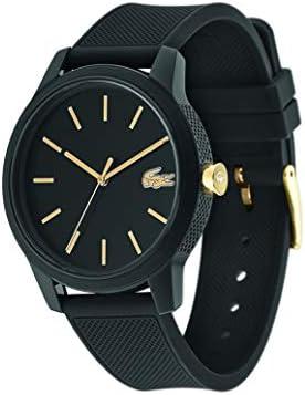 Lacoste Men's TR90 Japanese Quartz Watch with Rubber Strap, Black, 19.5 (Model: 2011010) 3