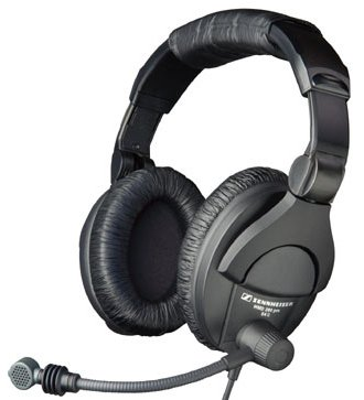 Sennheiser HMD280-XQ-2 Dual-Ear Closed Headphones with Supercardioid Dynamic Boom Microphone, 9.9 FT 502714